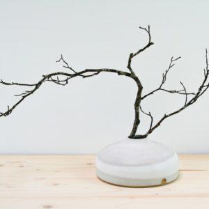 Vase lentille Epure blanc mate